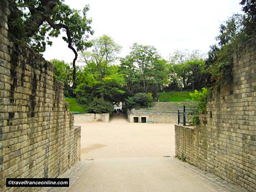 Entrance to the Arenes de Lutece