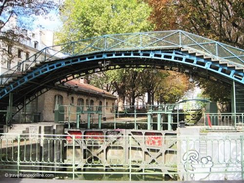 Footbridge on Canal Saint Martin