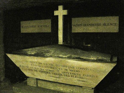Tombeau de Gilbert in Paris Catacombes