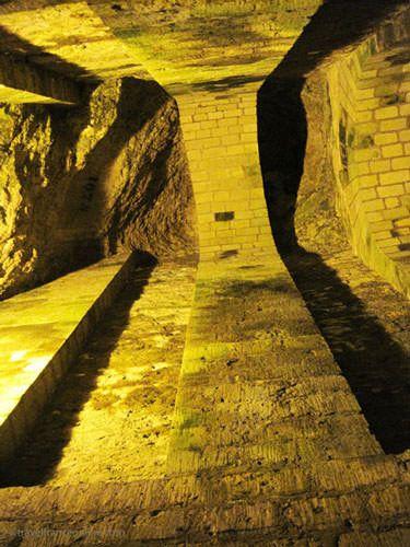 Fontis - sinkhole in Paris Catacombes