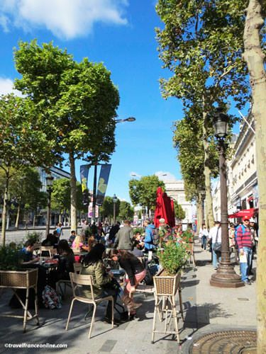 Terraced cafe on Champs Elysees