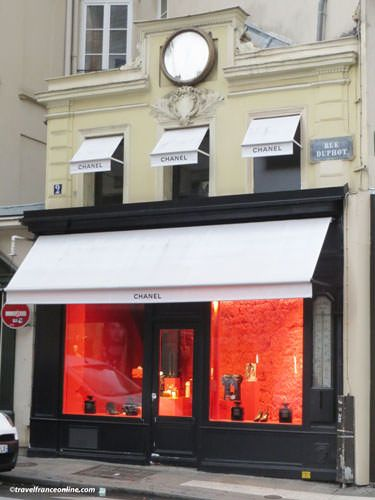 Faubourg Saint Honore - Chanel at corner Rues Duphot and St-Honore