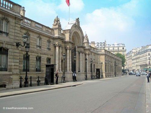 Palais Elysee - Entrance in Rue du Faubourg Saint-Honoré