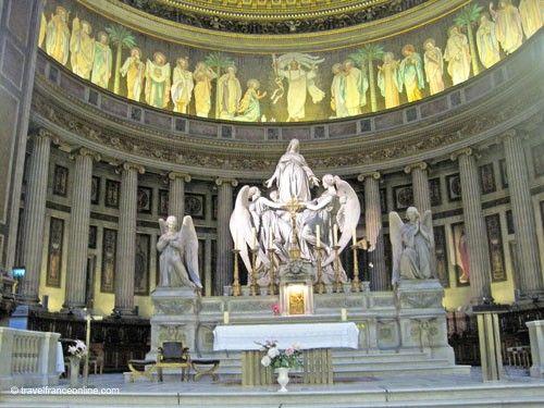 La Madeleine Church - Altar - St. Magdalene ascending to Heaven