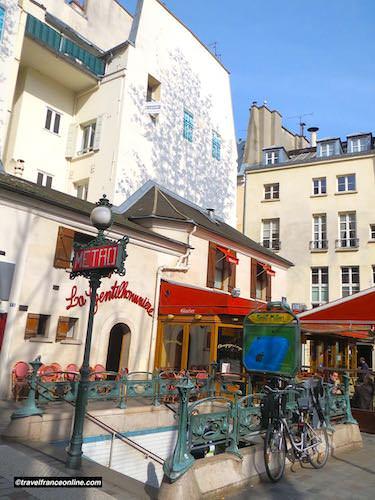 Metro entrance on Place Saint-Andre-des-Arts