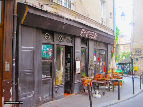 Cafe-restaurant on Montagne Saint-Genevieve in Latin Quarter