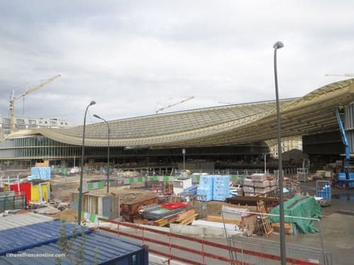 Les Halles - Canopy under construction