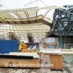 Les Halles - Canopy under construction