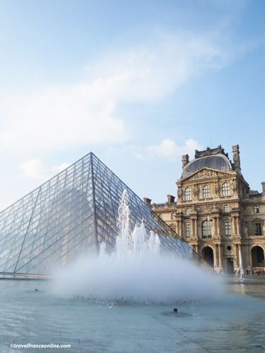 Louvre Palace - pyramid and fountain