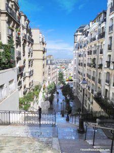 Montmartre village - Rue du Mont Cenis