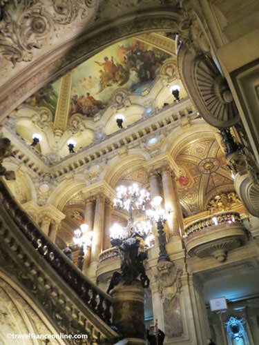 Opera Garnier - Ceiling above the grand staircase