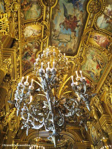 Opera Garnier - Chandelier in Salon d'Honneur