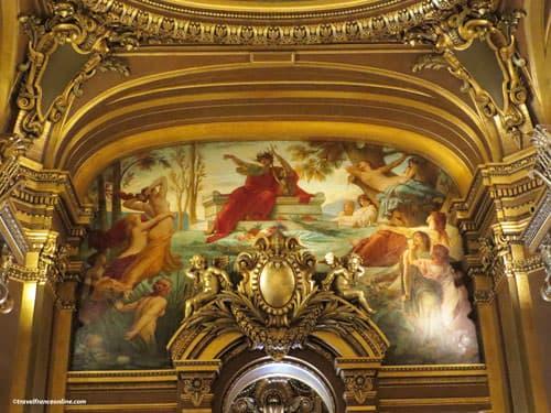 Opera Garnier - Lavish mural and gilding