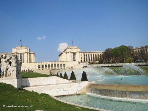 Palais de Chaillot and Fontaine de Varsovie