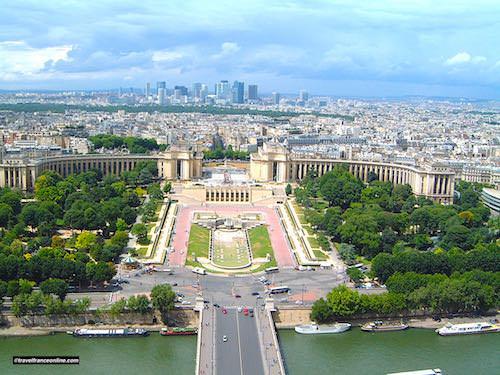 Palais de Chaillot seen from the Eiffel Tower