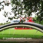 Buried Bicycle in Parc de la Villette