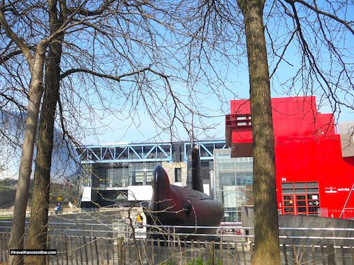 Geode, Sciences Museum and Argonaute submarine in Parc de la Villette
