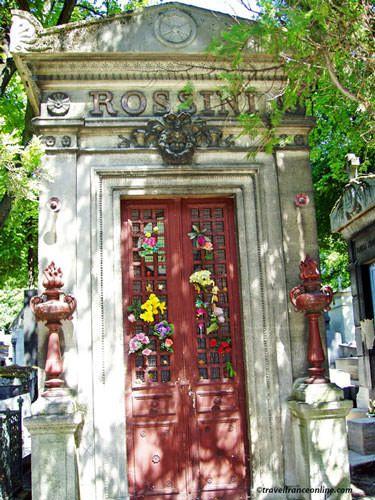 Pere Lachaise Cemetery - Rossini's grave