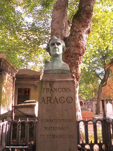 Grave of mathematician François Arago in Pere Lachaise