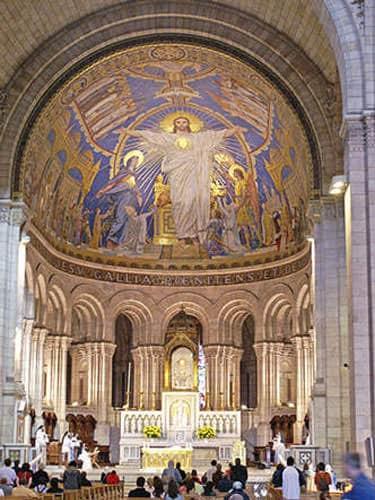 Sacre-Coeur Mosaic in apse