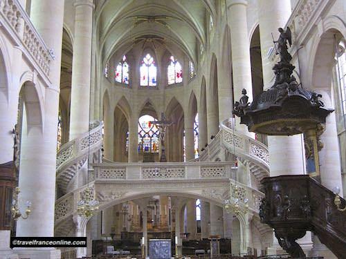 Rood screen of St Etienne du Mont Church in Paris