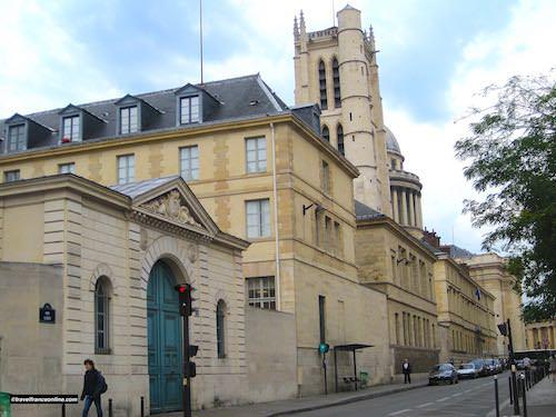 Tour Clovis in Lycée Henri IV oposite St Etienne du Mont Church