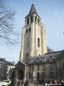 Saint Germain des Pres Church - Romanesque belfry