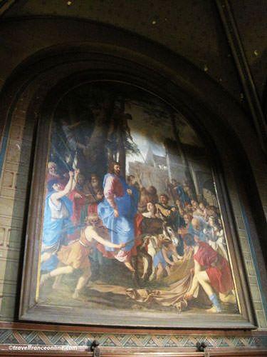 Saint Germain des Pres Church - Mural by Delacroix