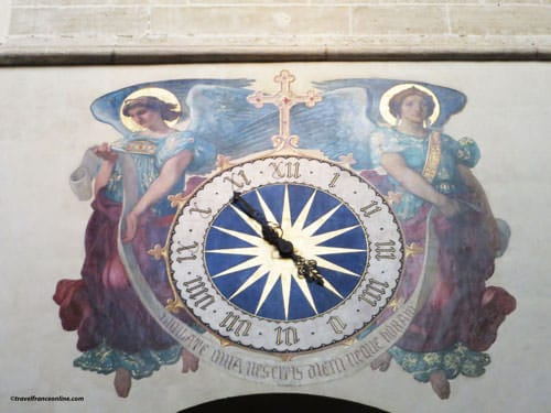 Saint Germain l'Auxerrois Church - Clock and mural