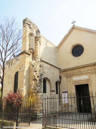 Saint Julien le Pauvre Church - Main facade with vestige old church