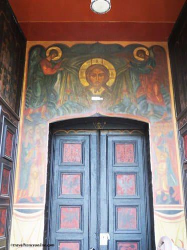 Saint Serge de Radonege Church - Door to Institute of Theology