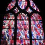 Saint Severin Church - Stained-glass window by Bazaine