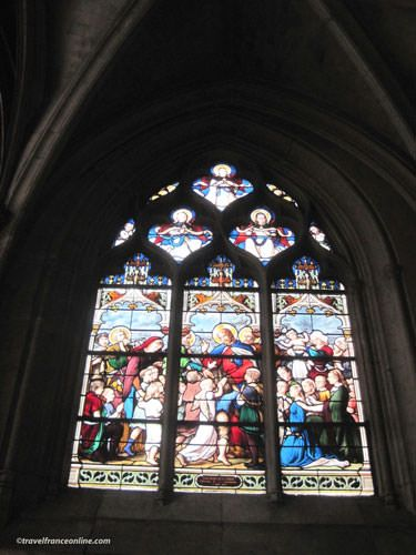 Saint Severin Church - Stained glass window with Charles Garnier (top left with moustache!)
