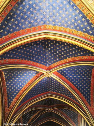 Sainte Chapelle - Chapelle Basse - ceiling with Fleur de Lys