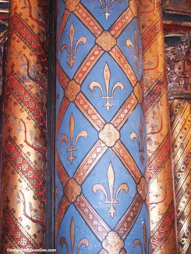 Sainte Chapelle - Chapelle Haute - Fleur de Lys