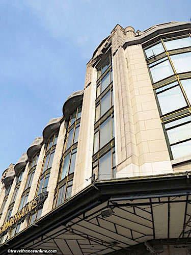 La Samaritaine - Canopy on Art Deco riverside facade