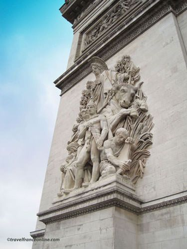 La Paix de 1815 on Arc de Triomphe