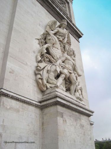 La Resistance de 1814 on Arc de Triomphe