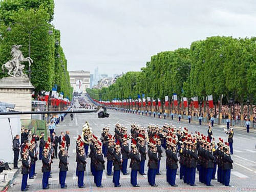 Bastille Day Celebrations on Champs Elysees