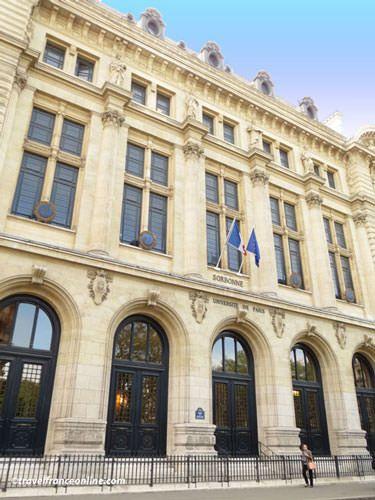 Sorbonne University on Rue des Ecoles