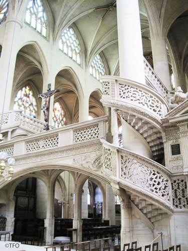 St Etienne du Mont Church - Renaissance staircase
