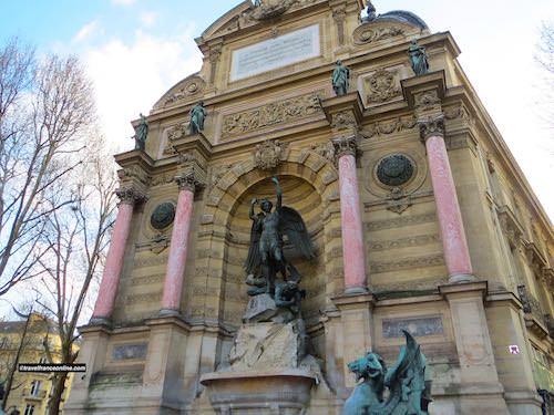 St Michel Fountain in the Latin Quarter