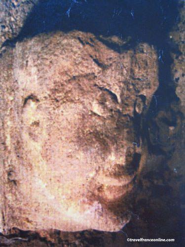 Abbaye Saint Magloire - Romanesque head