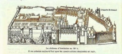 Amboise Castle in the 16th century