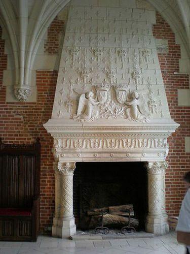 Amboise Castle - Renaissance fireplace