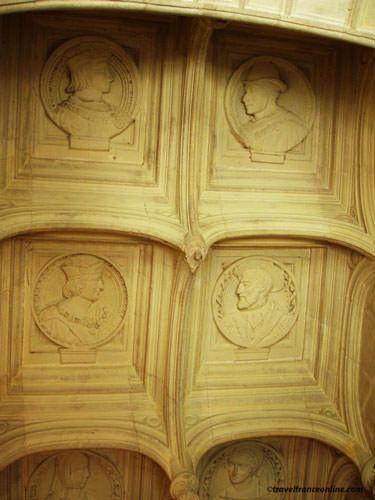Azay le Rideau Castle - Grand staircase - boxed ceiling