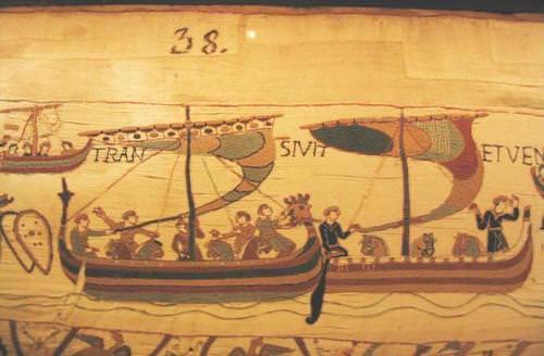 Bayeux Tapestry - Norsemen fleet