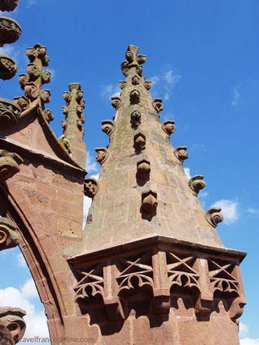 Belmont sur Rance - Collegiate Church - Detail Gothic Flamboyant roof