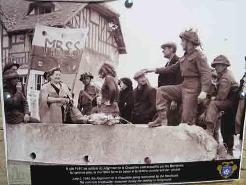 June 6, 1944 - French Canadian Regiment de la Chaudiere in Bernieres - Juno Beach