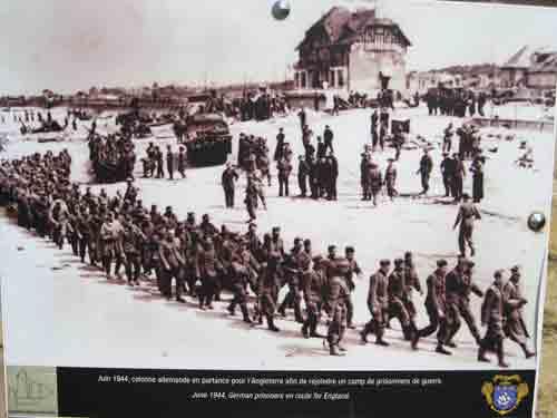 Juno Beach - Bernieres - German prisoners on their way to England